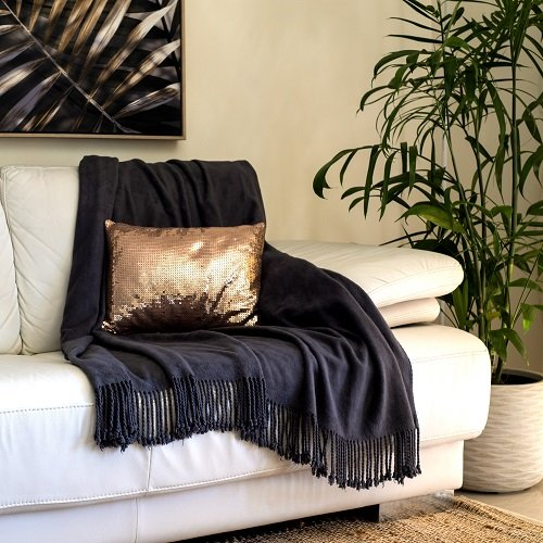 Charcoal Bamboo Throw