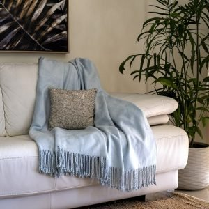Sky Blue Bamboo Throw